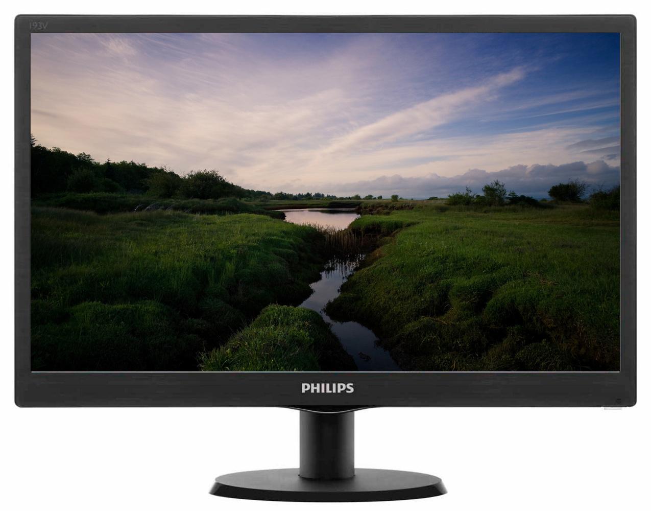 19'' LED Philips 193V5LSB2-1366x768, VGA,200cd,VESA
