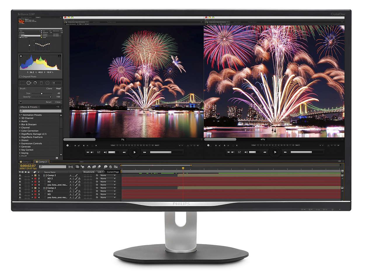 32'' LED Philips 328P6AUBREB-QHD,HDR,USB-C