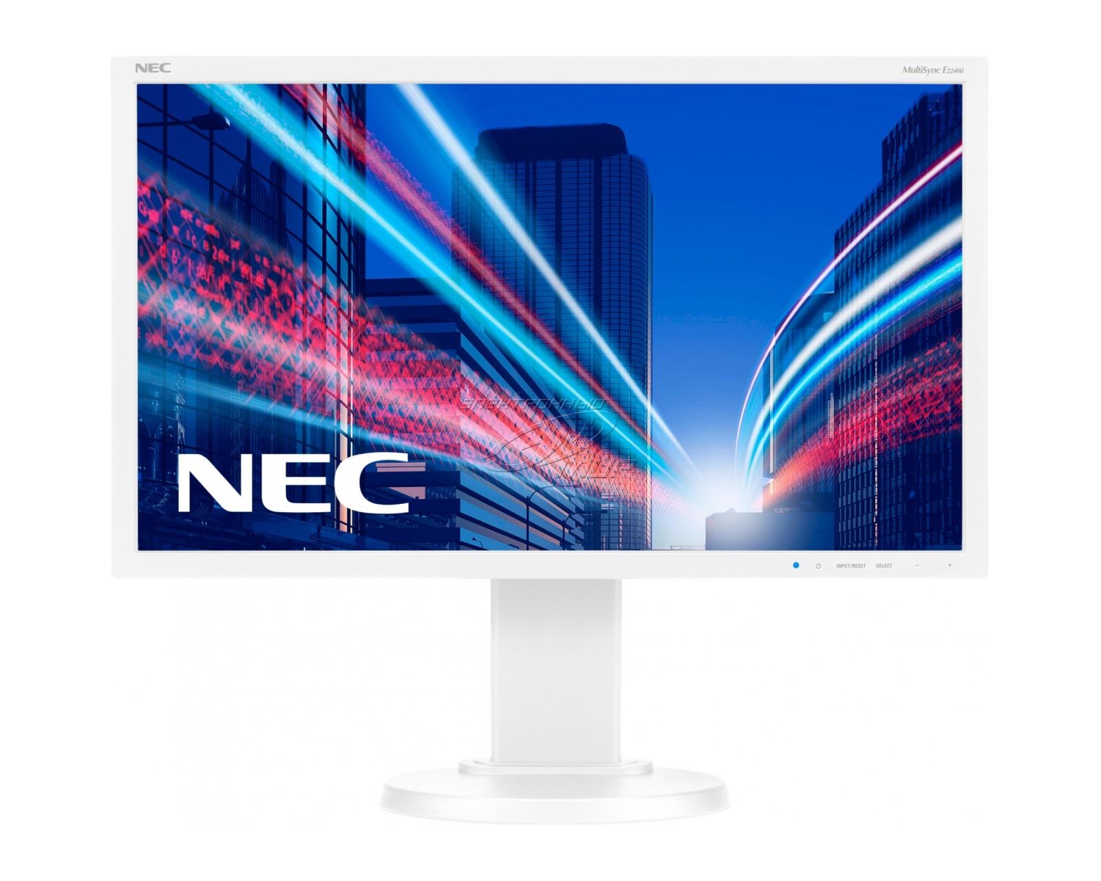 22' LED NEC E224Wi-FHD,IPS,DP,pivot,silver-white