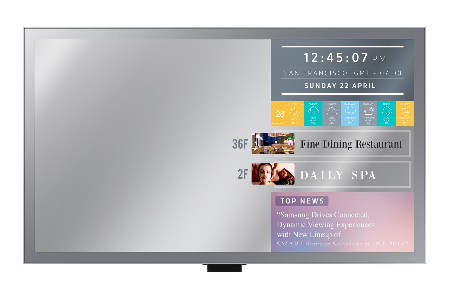 55'' LED Samsung ML55E-FHD,250cd, zrcadlo