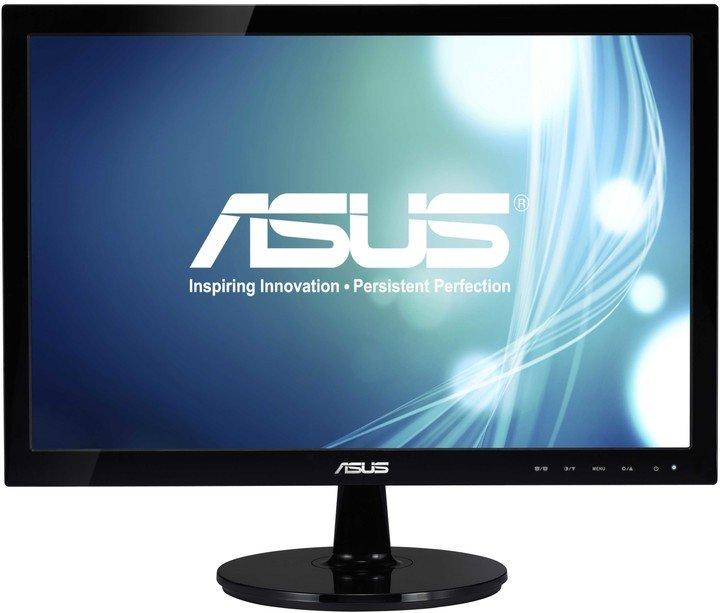19'' LED ASUS VS197DE černý -1366x768, 16:9, VGA,V2 - 90LMF1301T02201C-