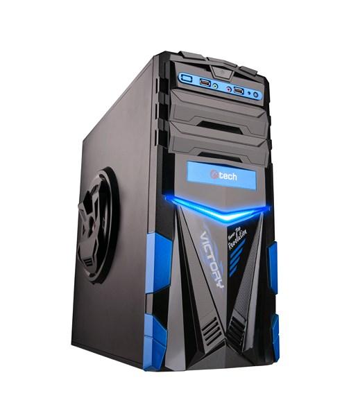 C-TECH herní skříň ARES (GC-02), černo-modrá