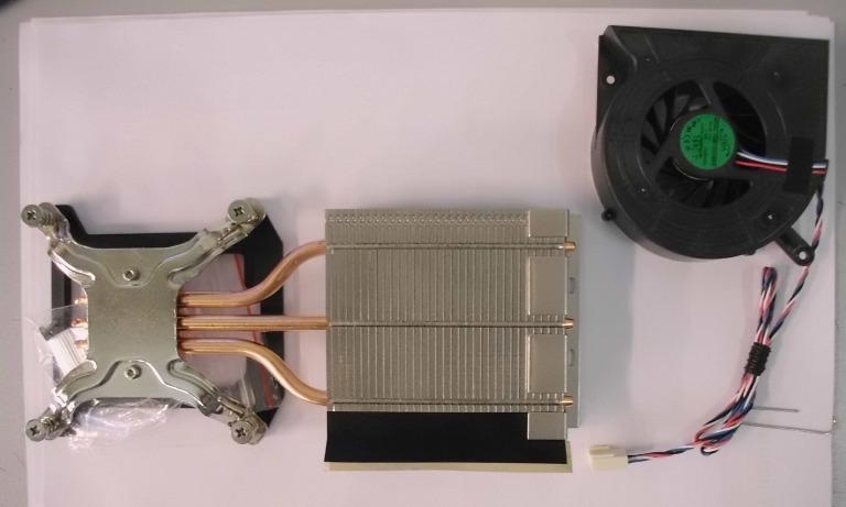 Chladič pro K1 (k deskám pro i3,i5, Atom má jiný)