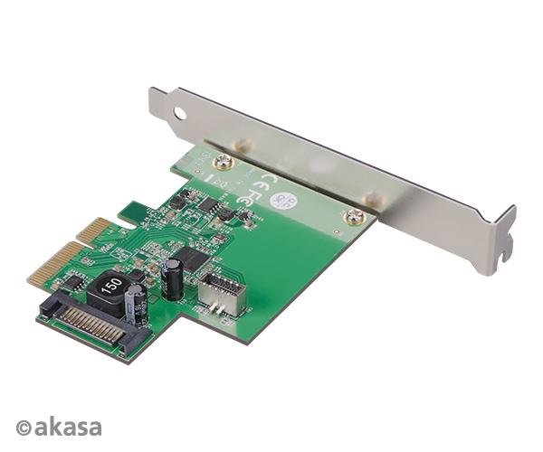 AKASA PCIe karta USB 3.2 Gen 2 interní konektor - AK-PCCU3-06