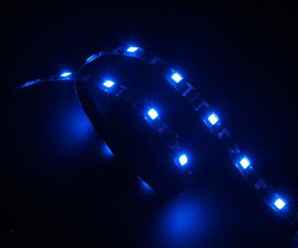 AKASA - LED páska - modrá Vegas 50 cm