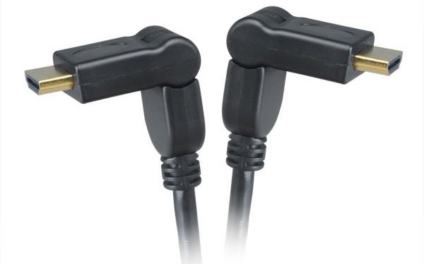 AKASA - HDMI na HDMI kabel - otočná hlavice - 2 m