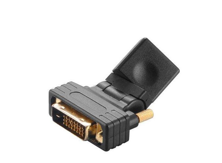 AKASA - úhlová redukce DVI-D na HDMI - AK-CBHD16-BK