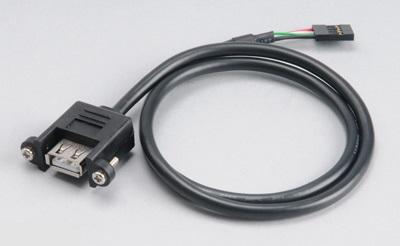 AKASA - USB 2.0 interní adaptér - AK-CBUB06-60BK