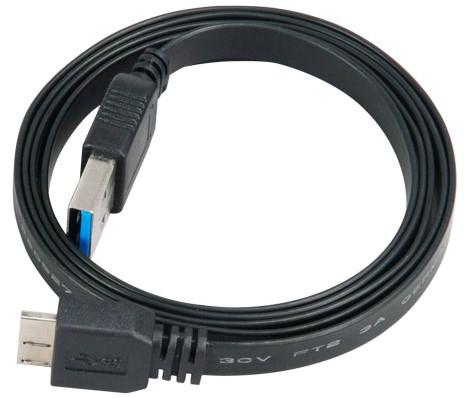 AKASA - Proslim - USB 3.0 A na mikro B - 1,5 m