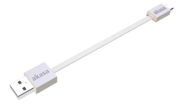 AKASA - Proslim - USB 2.0 A na mikro B - 15 cm bíl
