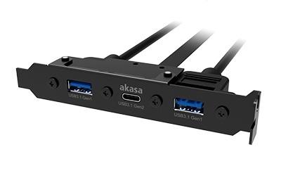 AKASA - USB 3.1 gen 2 typ C a 2xTyp A 3.0 záslepka - AK-CBUB52-50BK