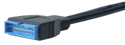 AKASA - USB 3.0 na USB 2.0 adaptér - 10 cm - AK-CBUB19-10BK