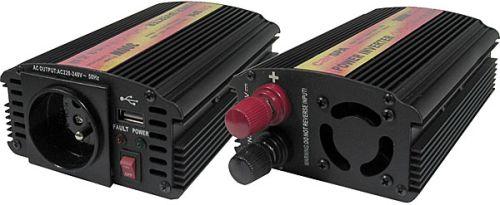 Měnič napětí Carspa CAR300U-24 24V/230V+USB 300W, modifikovaná sinus - CAR300U-242