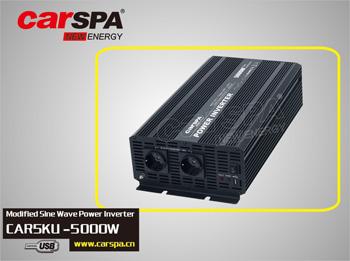 CAR5KU-242 Měnič napětí Carspa CAR5KU-24 24V/230V+USB 5000W, modifikovaná sinus