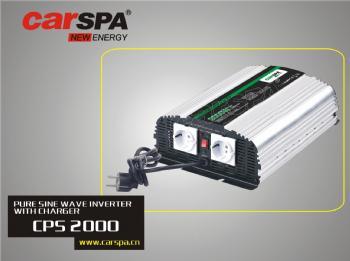 CPS2000-242 Měnič napětí Carspa CPS2000 24V/230V 2000W, čistá sinus, s nabíječkou 24V/8A a funkcí UPS