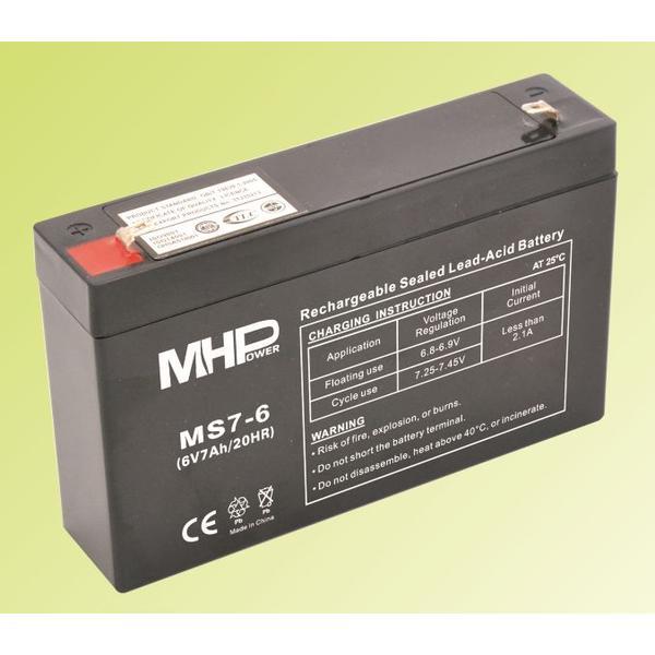 Pb akumulátor MHPower VRLA AGM 6V/7Ah (MS7-6) - MS7-6