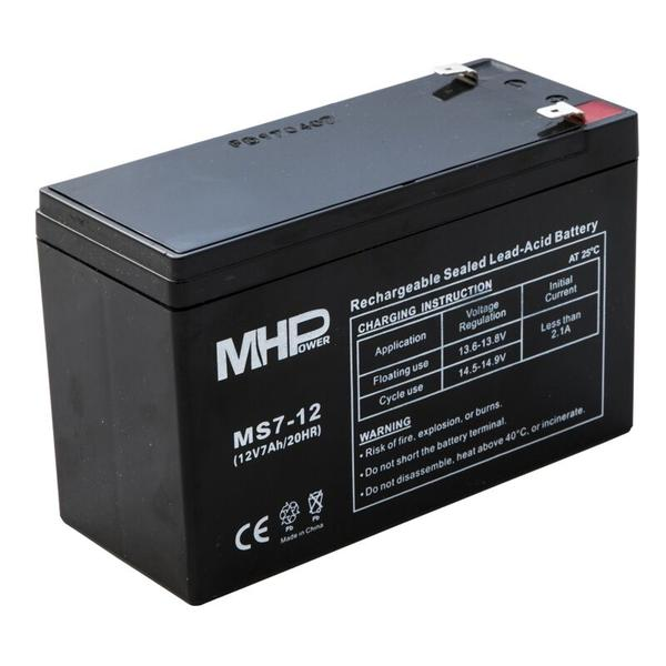 Pb akumulátor MHPower VRLA AGM 12V/7Ah (MS7-12) - MS7-12