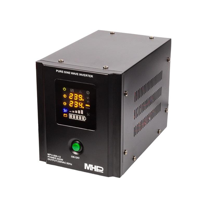 Záložní zdroj MHPower MPU500-12,UPS,500W, čistá sinus - MPU-500-12