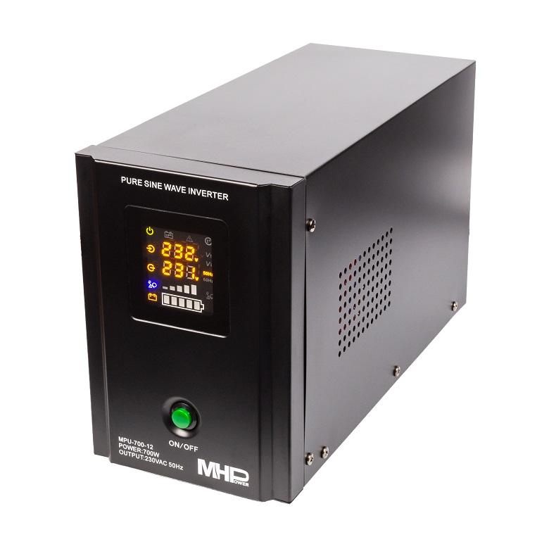 Záložní zdroj MHPower MPU700-12,UPS,700W, čistá sinus - MPU-700-12