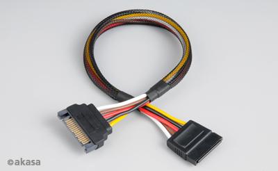 Prodlužovací napájecí SATA 15pin kabel  - 30 cm - AK-CBPW04-30
