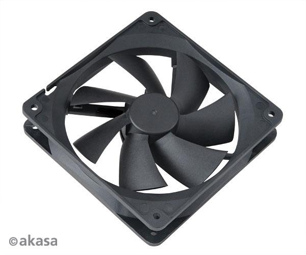 ventilátor Akasa - 12 cm - černý - PWM