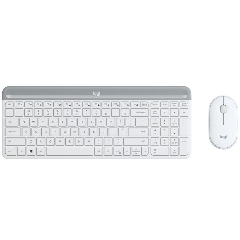 set Logitech slim Wireless MK470 - white INT´L - 920-009205
