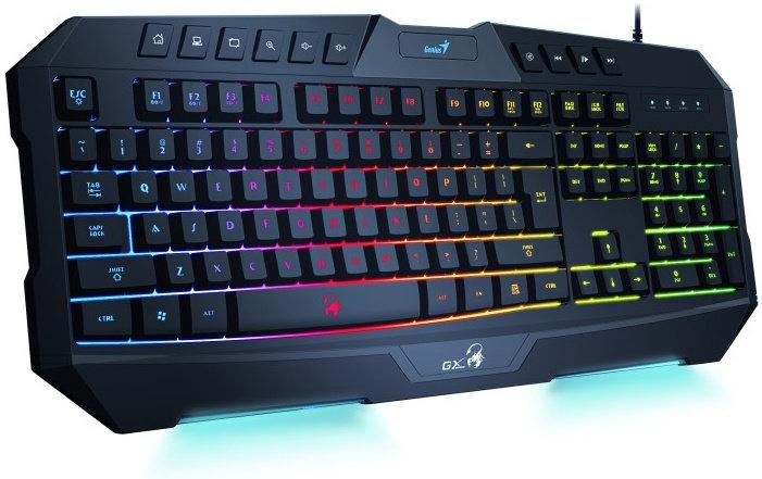 Klávesnice GENIUS K20 Black, gaming, CZ+SK