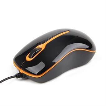 Myš Gembird Optical 04OR, USB černo-oranžová