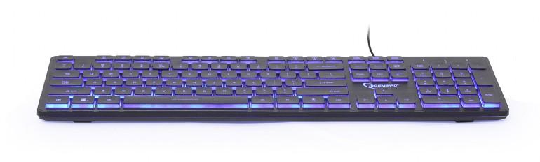 Gembird klávesnice drátová černá, podsvícená - KB-UML3-01