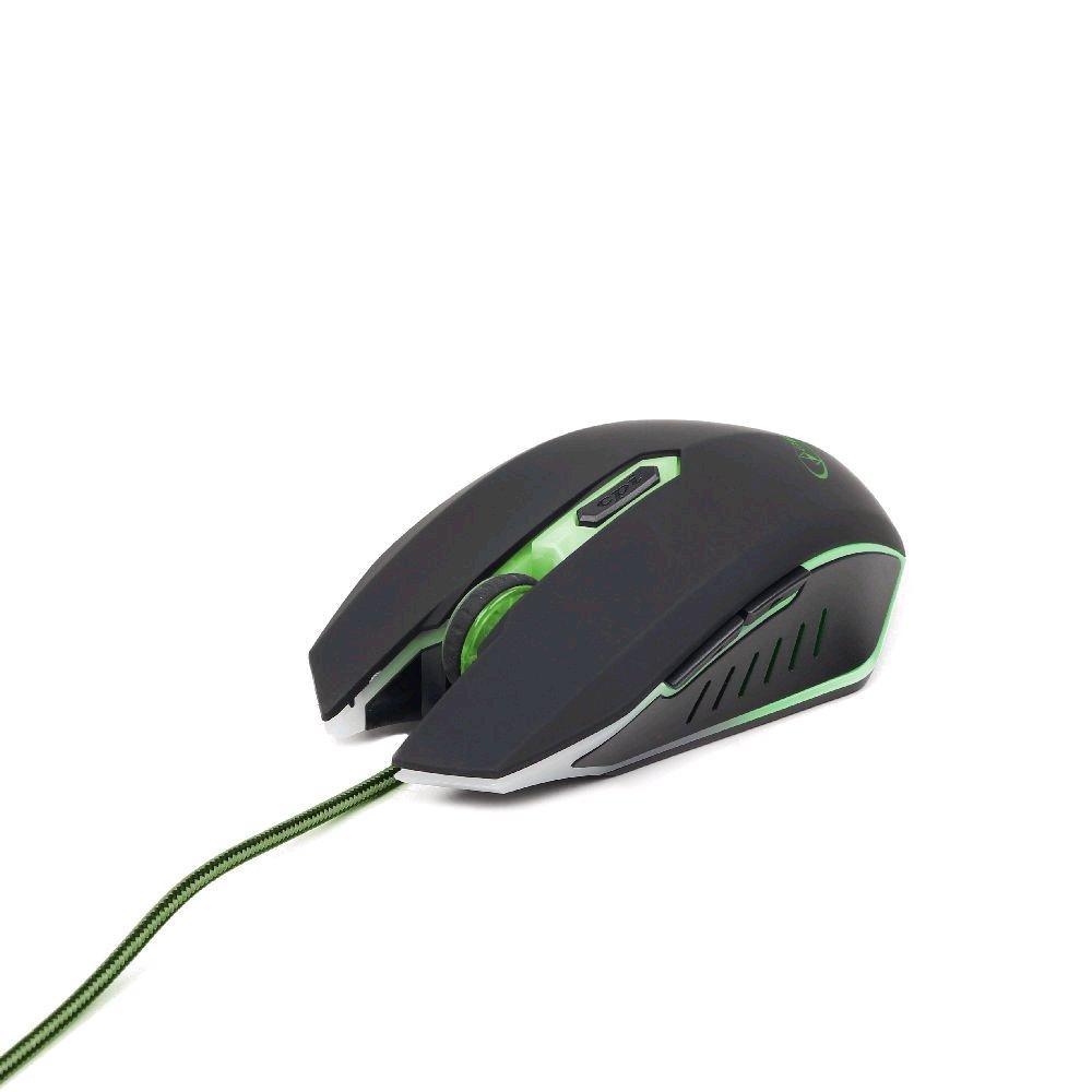 Gembird myš MUSG-001-G, herní,optická,zeleno-černá