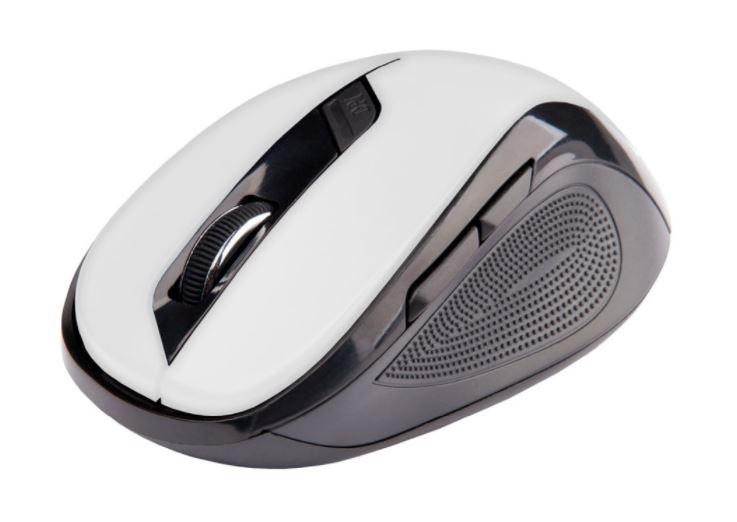 C-TECH Myš WLM-02 bezdrátová, 6tlač. černo-bílá