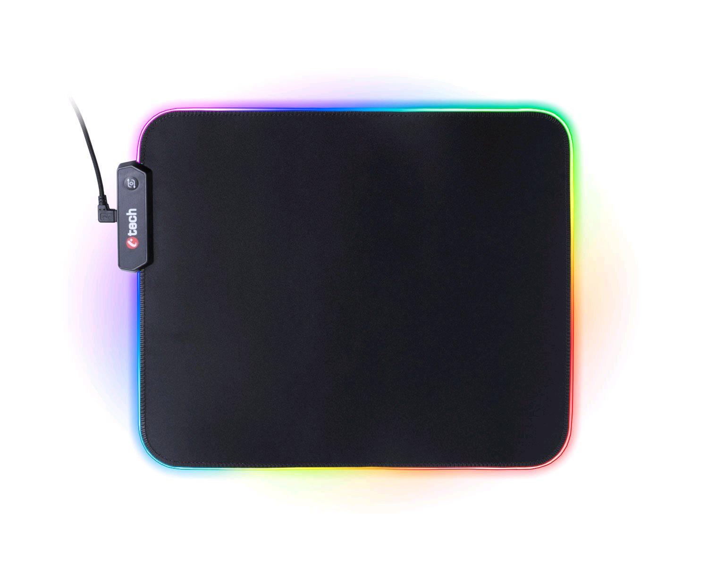 Herní podložka pod myš C-TECH ANTHEA LED (GMP-08), pro gaming, 7 barev podsvícení, USB