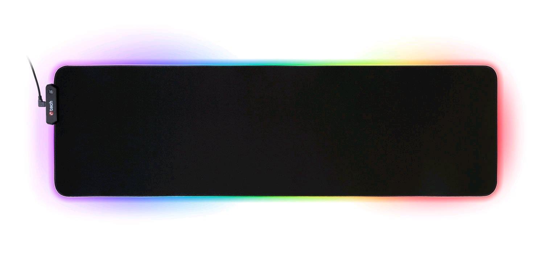 Herní podložka pod myš C-TECH ANTHEA LED XL (GMP-08XL), pro gaming, 7 barev podsvícení, USB - GMP-08XL