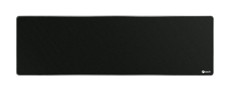 Podložka pod myš C-TECH MP-01XL, černá, 900x270x4mm, obšité okraje - MP-01XL-BK