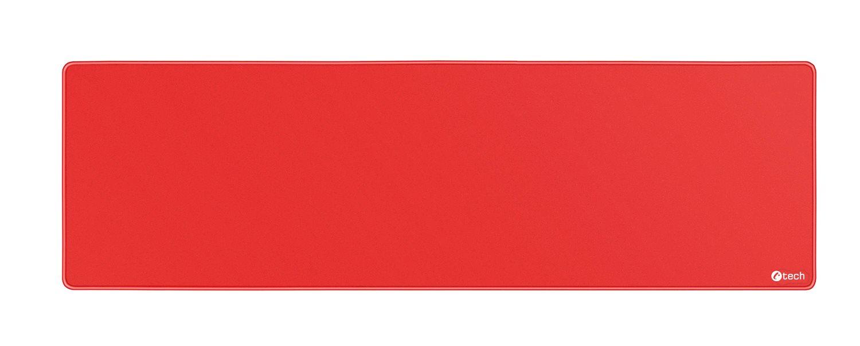 Podložka pod myš C-TECH MP-01XL, červená, 900x270x4mm, obšité okraje