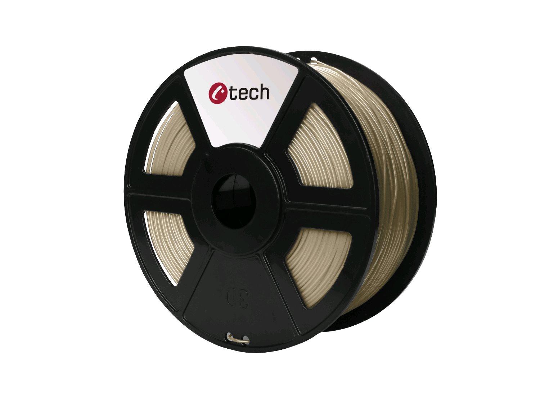 Tisková struna (filament) C-TECH, PLA, 1,75mm, 1kg, bronz - 3DF-PLA1.75-BZ
