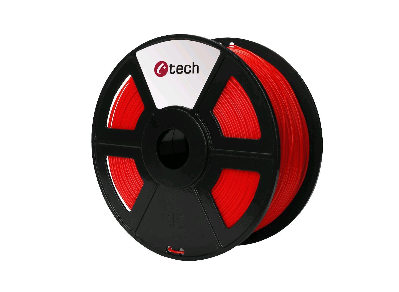 Tisková struna (filament) C-TECH, PLA, 1,75mm, 1kg, červená - 3DF-PLA1.75-R