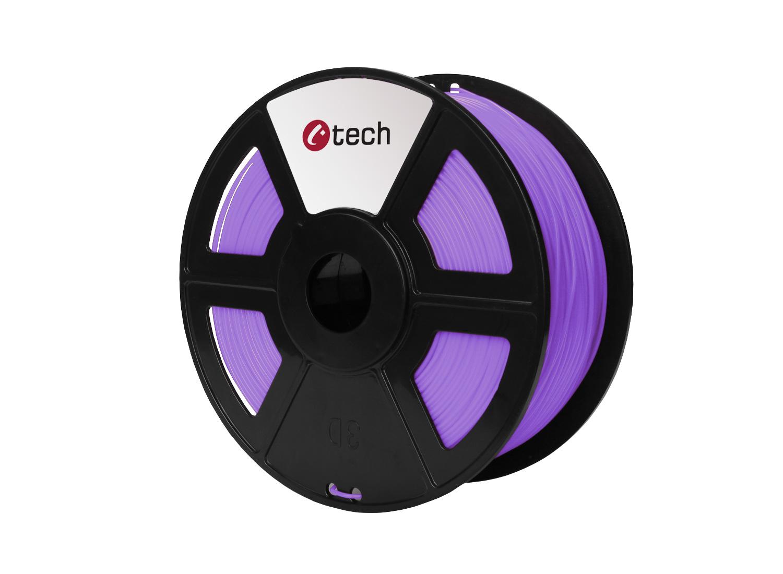 Tisková struna (filament) C-TECH, PLA, 1,75mm, 1kg, fialová - 3DF-PLA1.75-PR