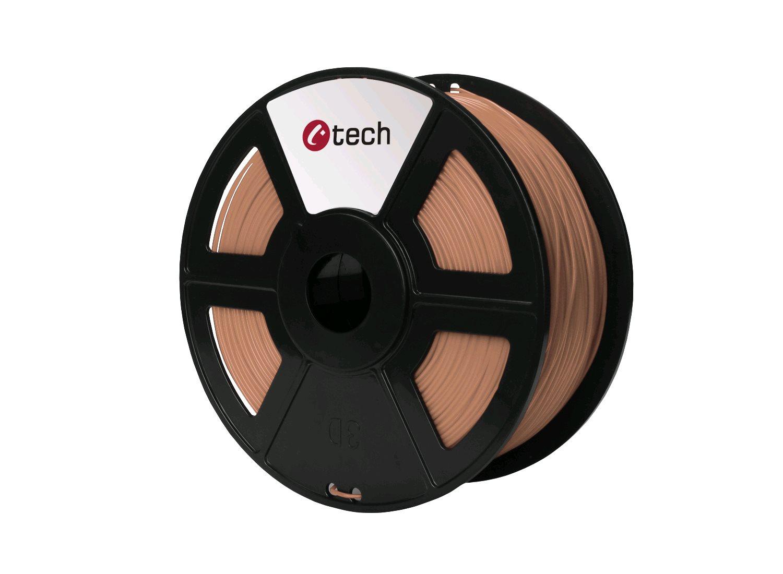 Tisková struna (filament) C-TECH, PLA, 1,75mm, 1kg, měděná - 3DF-PLA1.75-CP