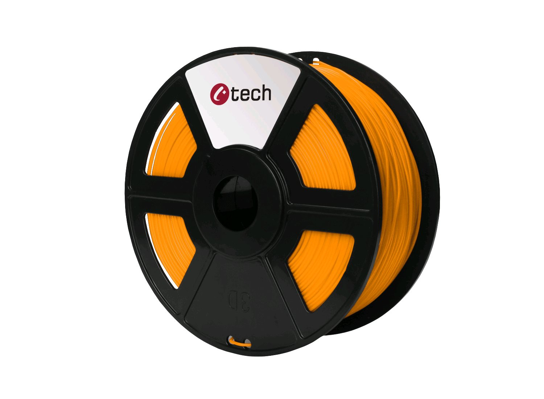 Tisková struna (filament) C-TECH, PLA, 1,75mm, 1kg, oranžová - 3DF-PLA1.75-O