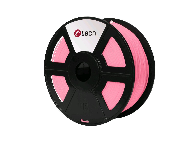 Tisková struna (filament) C-TECH, PLA, 1,75mm, 1kg, růžová - 3DF-PLA1.75-P