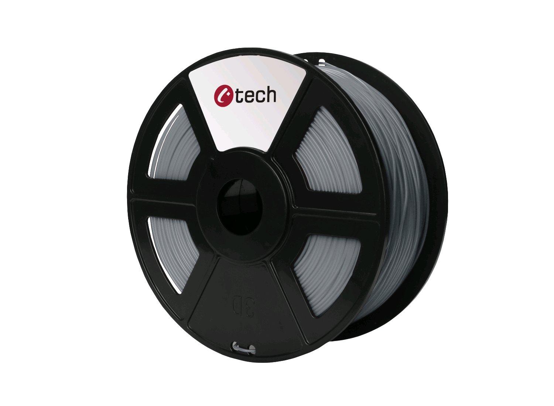Tisková struna (filament) C-TECH, PLA, 1,75mm, 1kg, světle šedá - 3DF-PLA1.75-LG