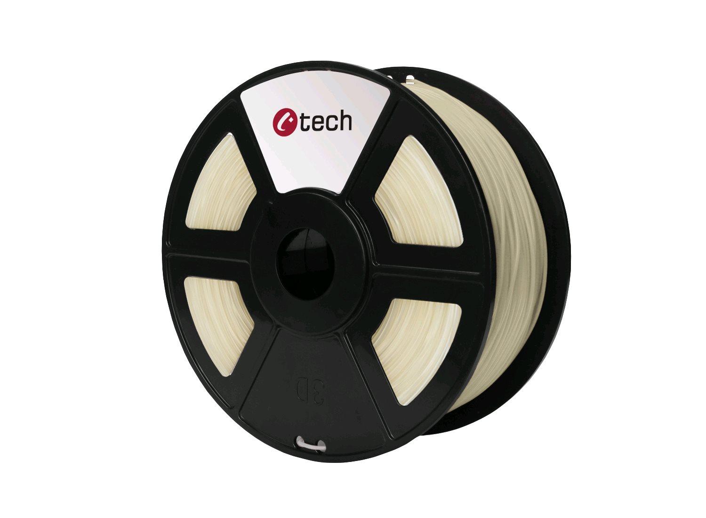 Tisková struna (filament) C-TECH, PLA, 1,75mm, 1kg, transparentní - 3DF-PLA1.75-CL