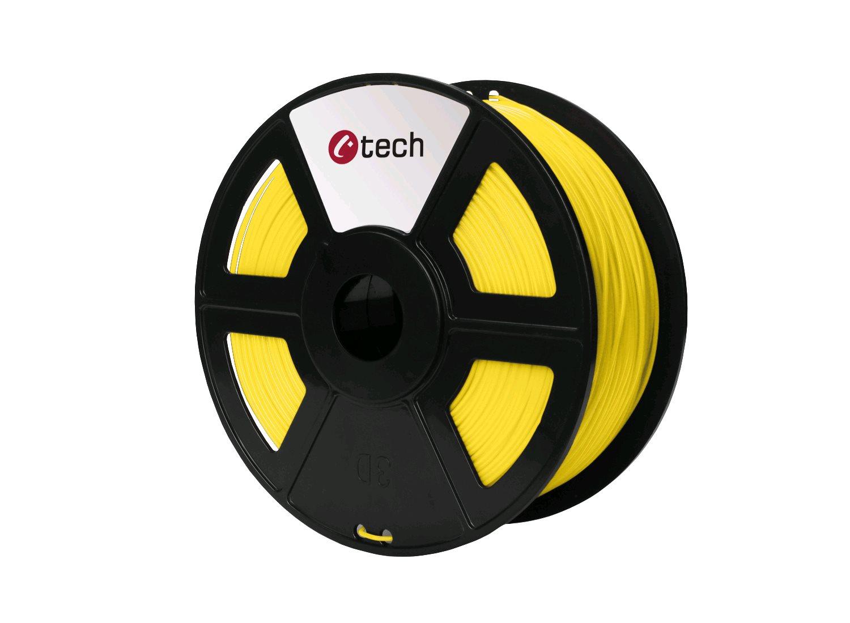 Tisková struna (filament) C-TECH, PLA, 1,75mm, 1kg, žlutá - 3DF-PLA1.75-Y