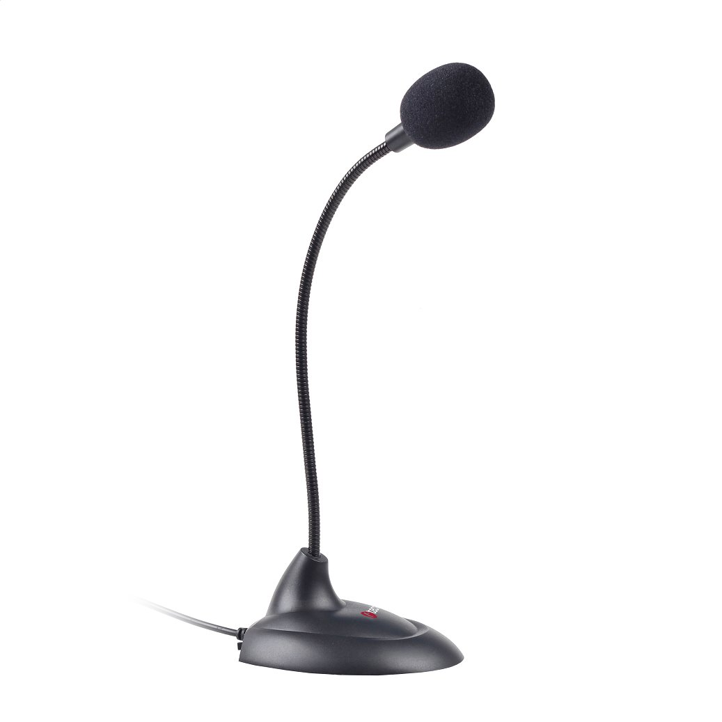 Stolní mikrofon C-TECH MIC-04E, 3,5'' stereo jack, 1,8m - MIC-04E
