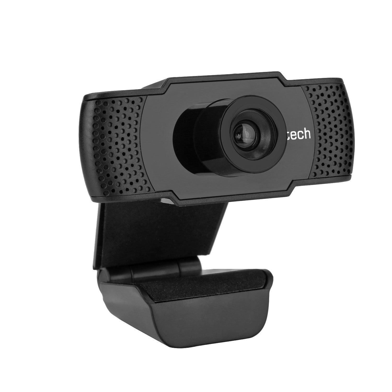 Webkamera C-TECH CAM-07HD, 720P, mikrofon, černá - CAM-07HD