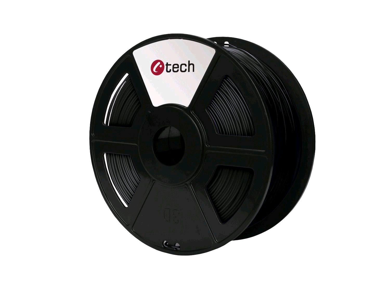 HIPS BLACK černá C-TECH, 1,75mm, 1kg - 3DF-HIPS1.75-BK