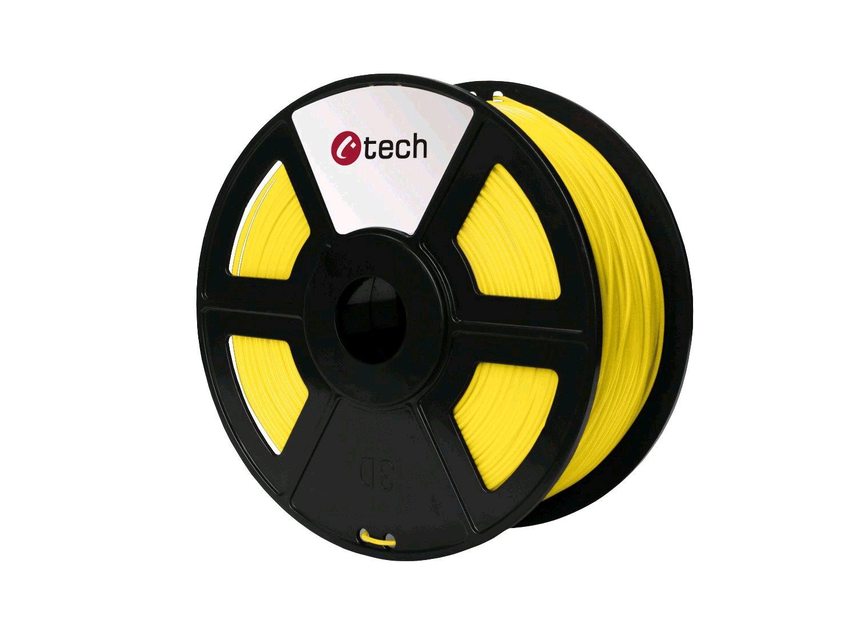 HIPS YELLOW žlutá C-TECH, 1,75mm, 1kg - 3DF-HIPS1.75-Y