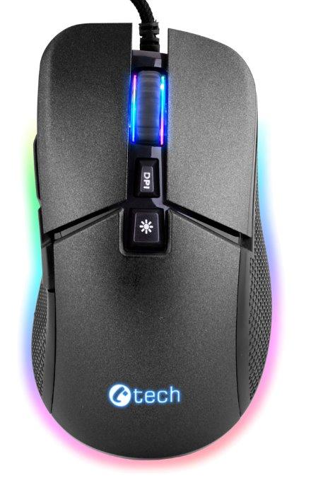 Herní myš C-TECH Dawn (GM-24L), casual gaming, 6400 DPI, RGB podsvícení, USB - GM-24L
