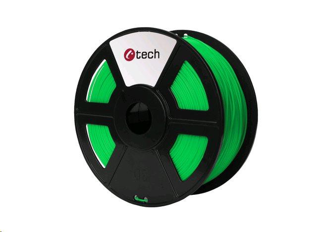 ABS FLUORESCENT GREEN zelená C-TECH, 1,75mm, 1kg - 3DF-ABS1.75-FG